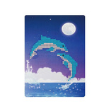 Картины мозаикой 17х21 Дельфины