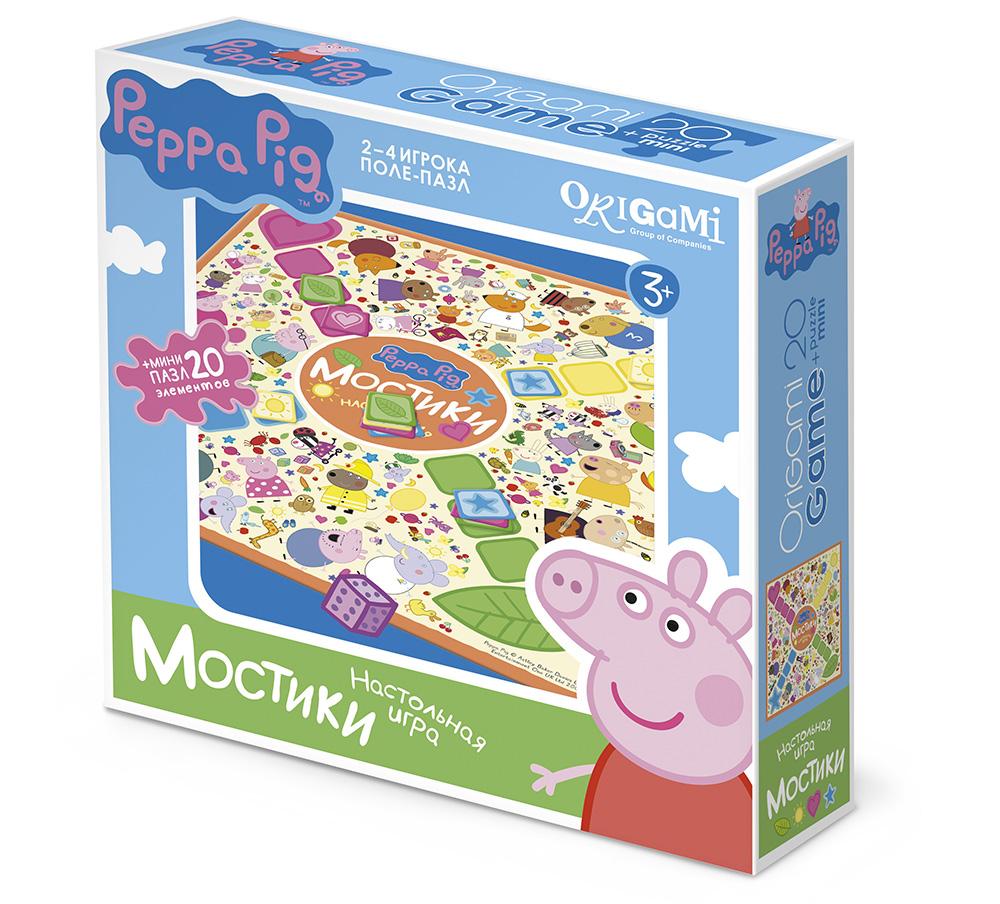 Игра Настольная Peppa Pig Поле-пазл Мостики 20 эл.