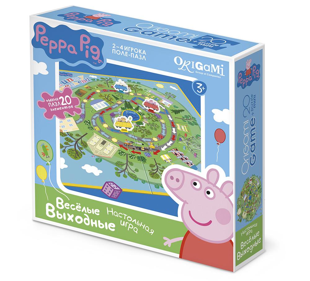 Игра Настольная Peppa Pig Поле-пазл Веселые выходные