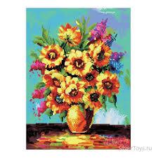 Картина стразами 40х50 Солнечные цветы
