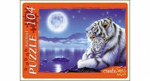 АКЦИЯ19 Пазл 104 Белые тигры