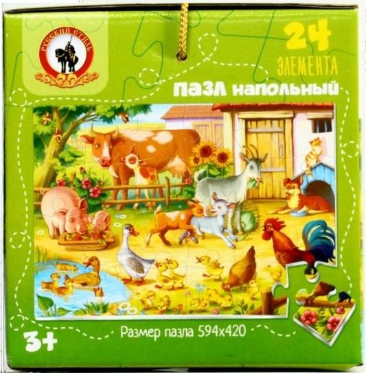 Пазл Напольный Веселая ферма 24эл