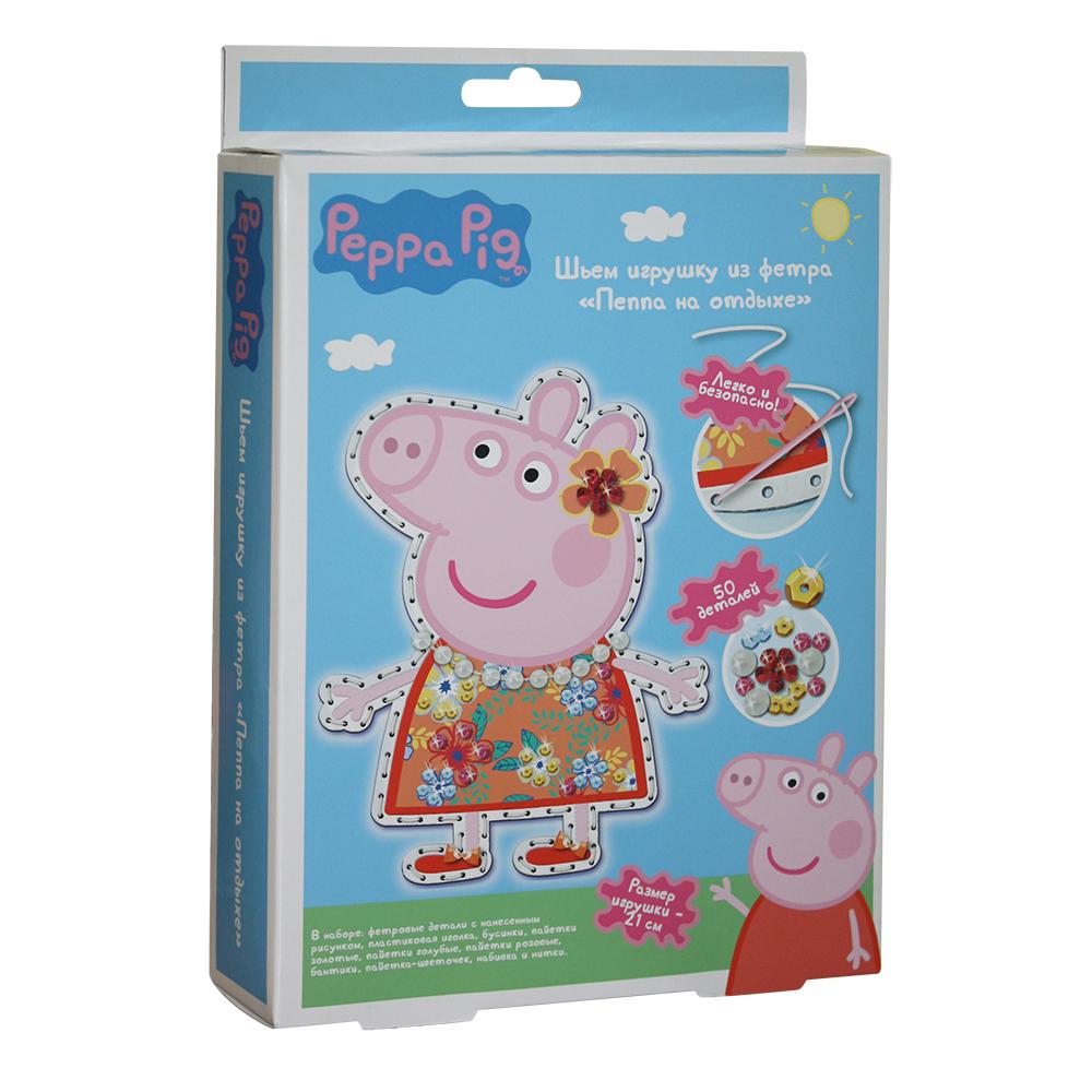 Творч Фетр Шьем игрушку Peppa Pig. Пеппа на отдыхе