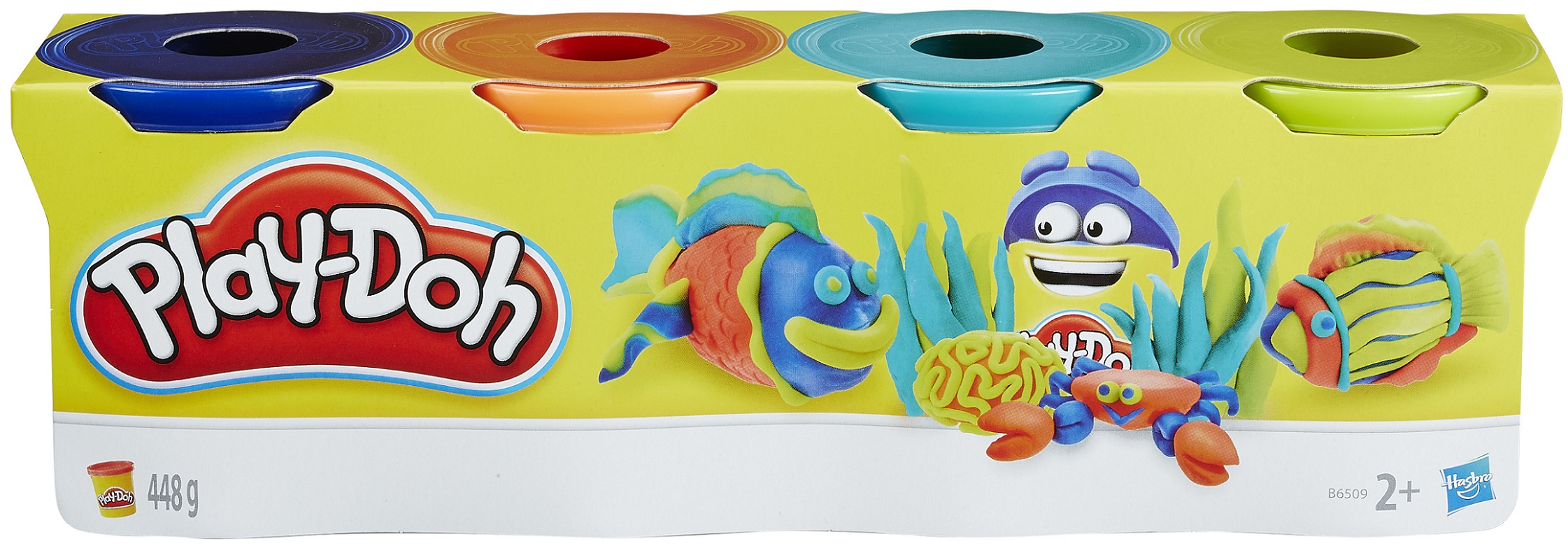 Творч Play-Doh Пластилин 4 банки (в ассорт.) МАХ СКИДКА 15% РОЗНИЦА