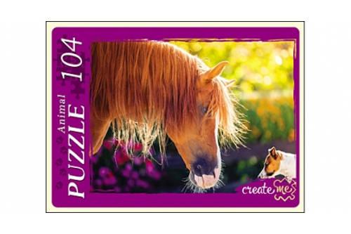 АКЦИЯ19 Пазл 104 Лошадь и пес