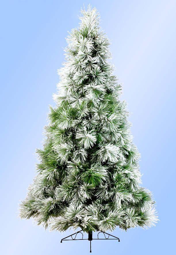 НГ Елка 150см зеленая с белым фольга