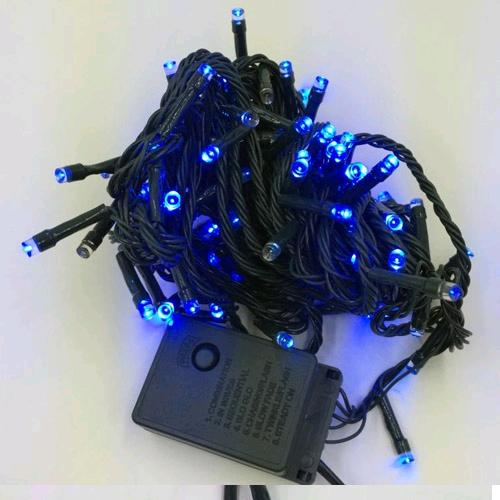 НГ Гирлянда электрическая 60 синих ламп 8 режимов 5.5м