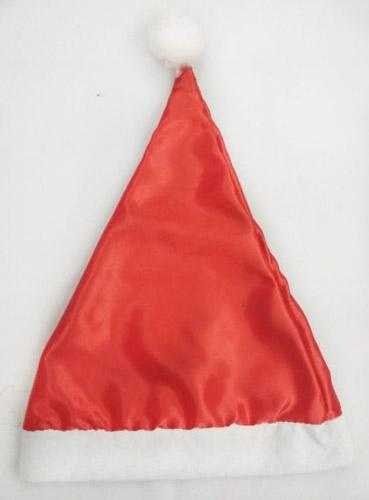 НГ Колпак Деда Мороза красный однотонный