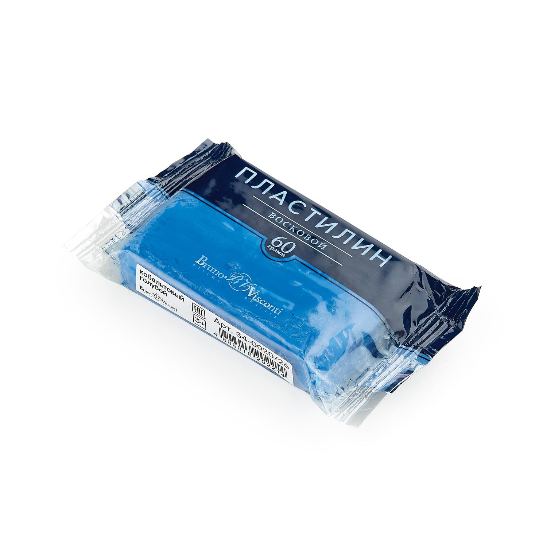 Пластилин 1 цв Bruno Visconti восковой кобальтовый голубой 60гр