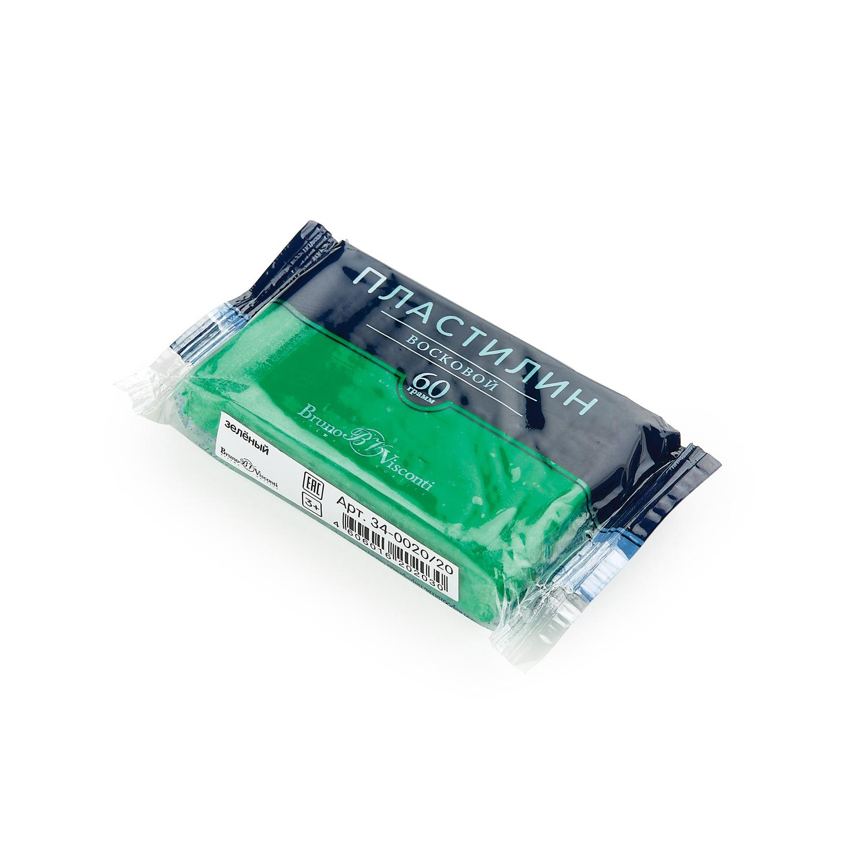 Пластилин 1 цв Bruno Visconti восковой зеленый 60гр