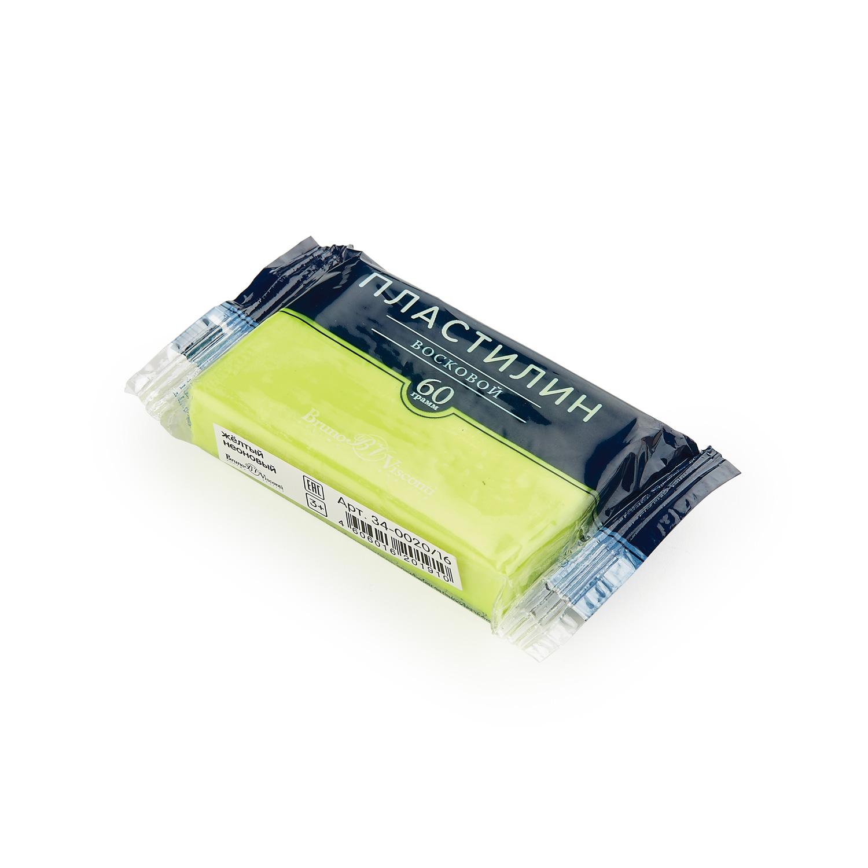 Пластилин 1 цв Bruno Visconti восковой желтый неоновый 60гр