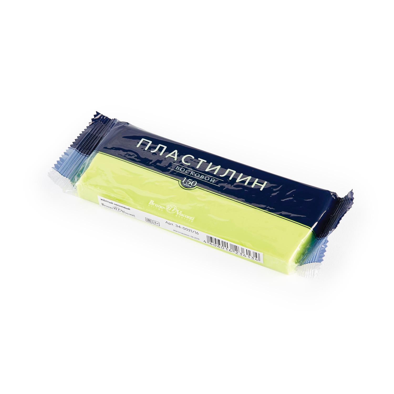 Пластилин 1 цв Bruno Visconti восковой желтый неоновый 150гр