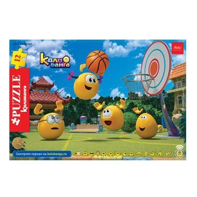 Пазл 12 Веселые смайлики (в рамке) волейбол