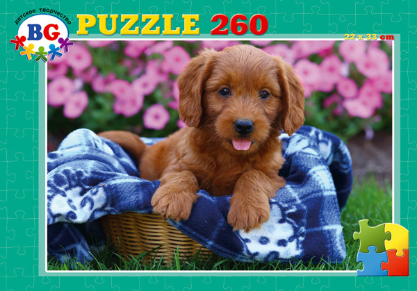 Пазл 260 Рыжий щенок