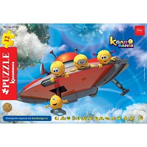 Пазл 12 Веселые смайлики (в рамке) летающая тарелка