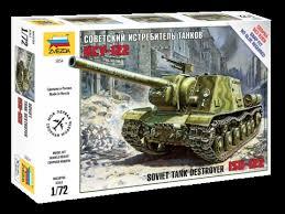 Сборная модель Советский истребитель танков ИСУ-122 1/72