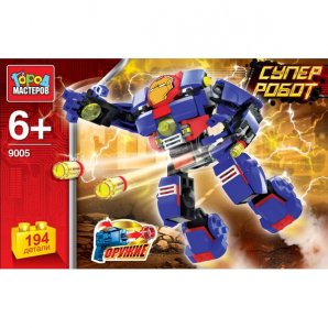 АКЦИЯ-20 Игр Конструктор Супер робот 194 дет. пластм