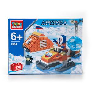 АКЦИЯ-20 Игр Конструктор Арктика: Полярник на снегоходе, с фигурками 138дет