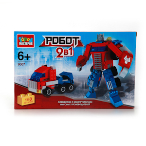 Конструктор Робот + грузовик 150 дет. пластм