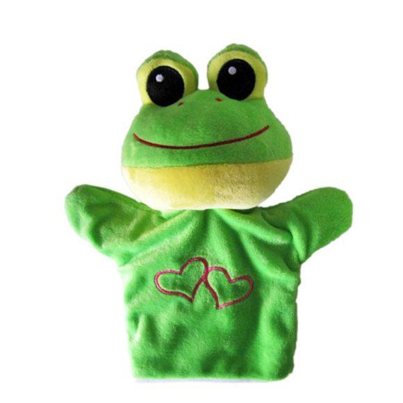 Кукольный театр Кукла-перчатка Лягушка с сердечком 23 см