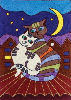 Ниткография Кошки