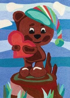 Ниткография Медвежонок