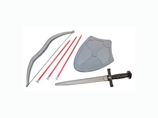 Набор Отвага (щит, меч, лук со стрелами) пластмас.