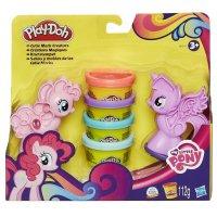 Творч Play-Doh Пони-малышки 4 банки 112 гр. Знаки отличия