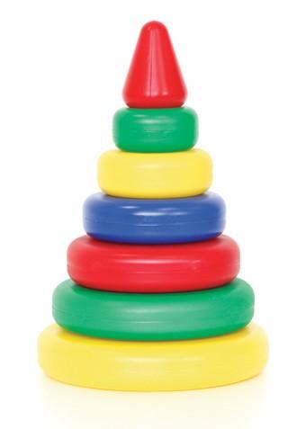 Пирамидка Классическая 6 колец (конус) пластмас.