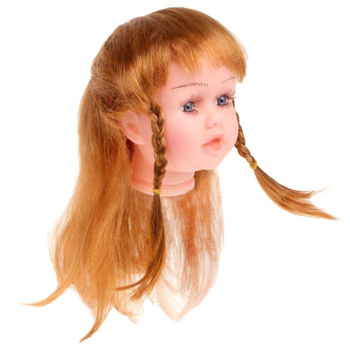 Волосы для кукол Косички большой размер Каштановый