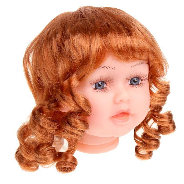 Волосы для кукол Локоны большой размер Каштановый
