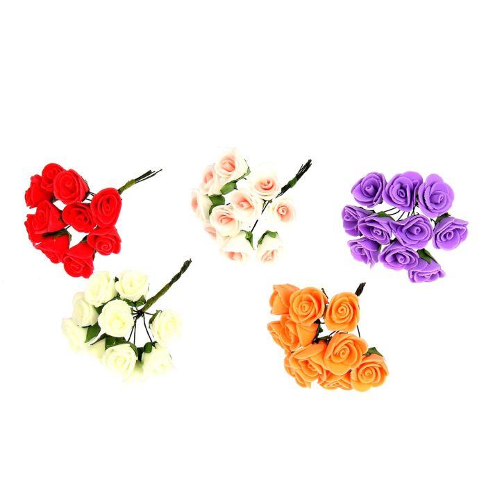 Цветы Пышная роза букет 10цв 10см