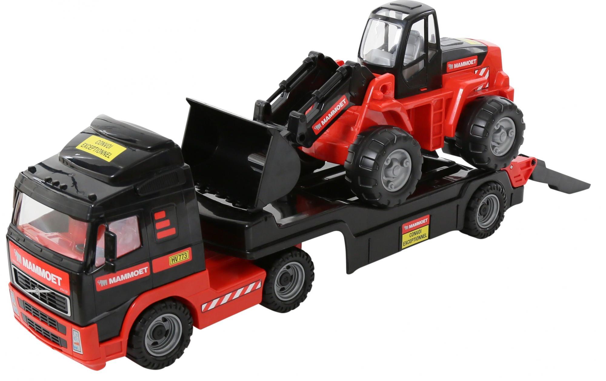 Автомобиль-трейлер Маммоет Volvo 70см + трактор-погрузчик 30см