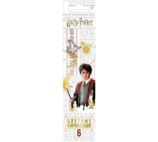 Карандаши цветные 6 цв Hatber Гарри Поттер с заточ.