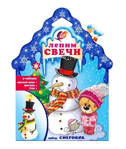 Творч Набор Лепим свечи Снеговик