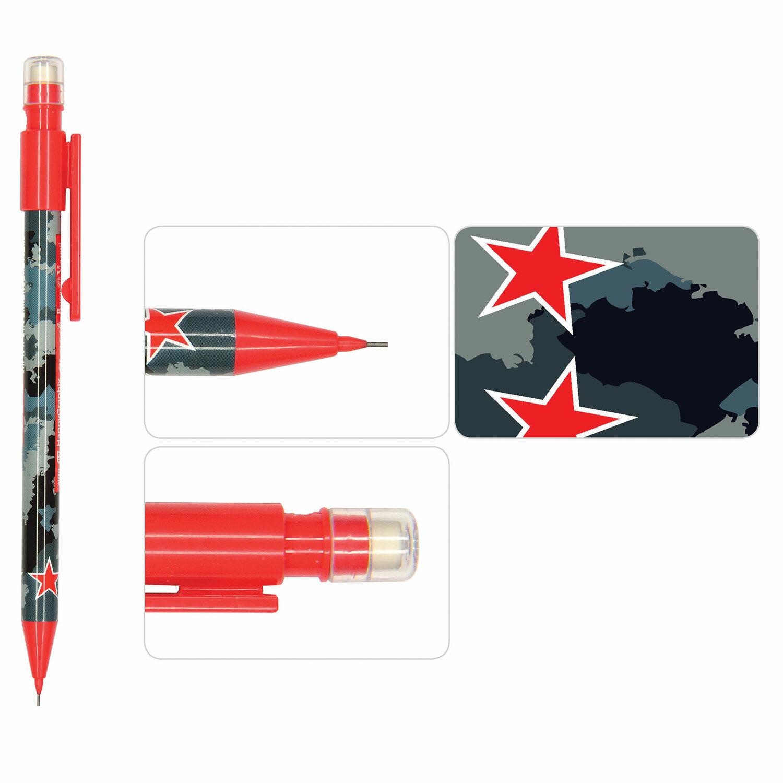 Карандаш мех. 0.7мм BV HappyGraphix Military blue с ластиком