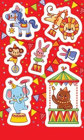 Наклейки 0-11-343А Цирковые зверята