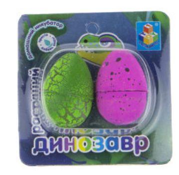 Набор Домашний инкубатор 2 мини-яйца с раст. динозавром 3*2см