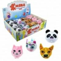 Жмяка-плюш с шариками, кот, панда, собака, единорог, 10см