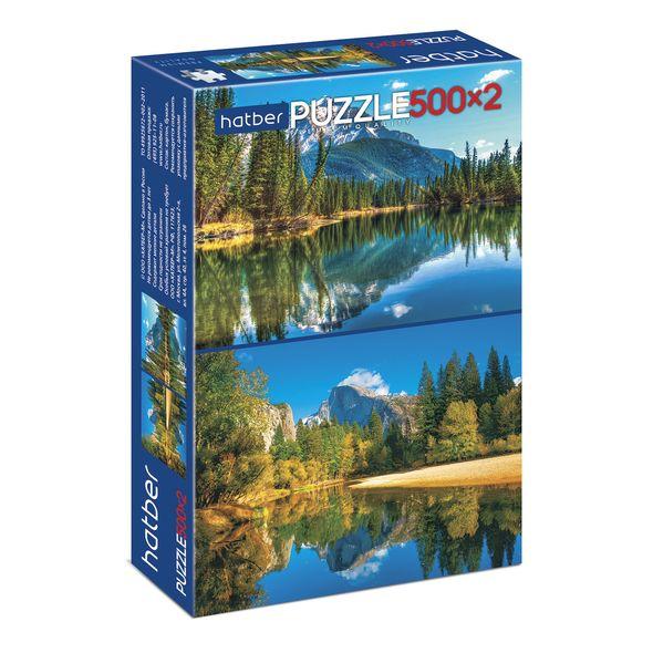 Пазл 2 в 1 500+500 Горное озеро