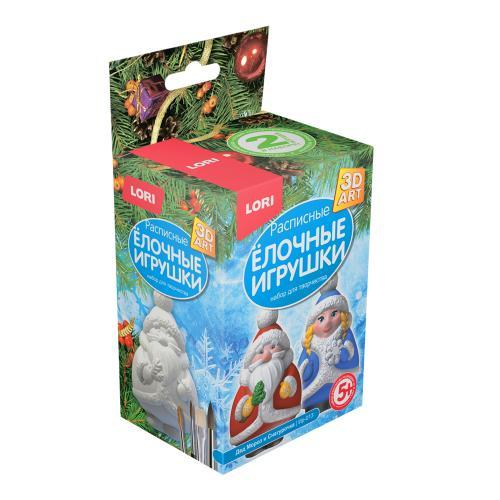 """Творч Роспись ёлочных игрушек """"Дед Мороз и Снегурочка"""""""