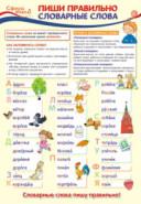 Плакат Пиши правильно словарные слова А3 в инд. упак