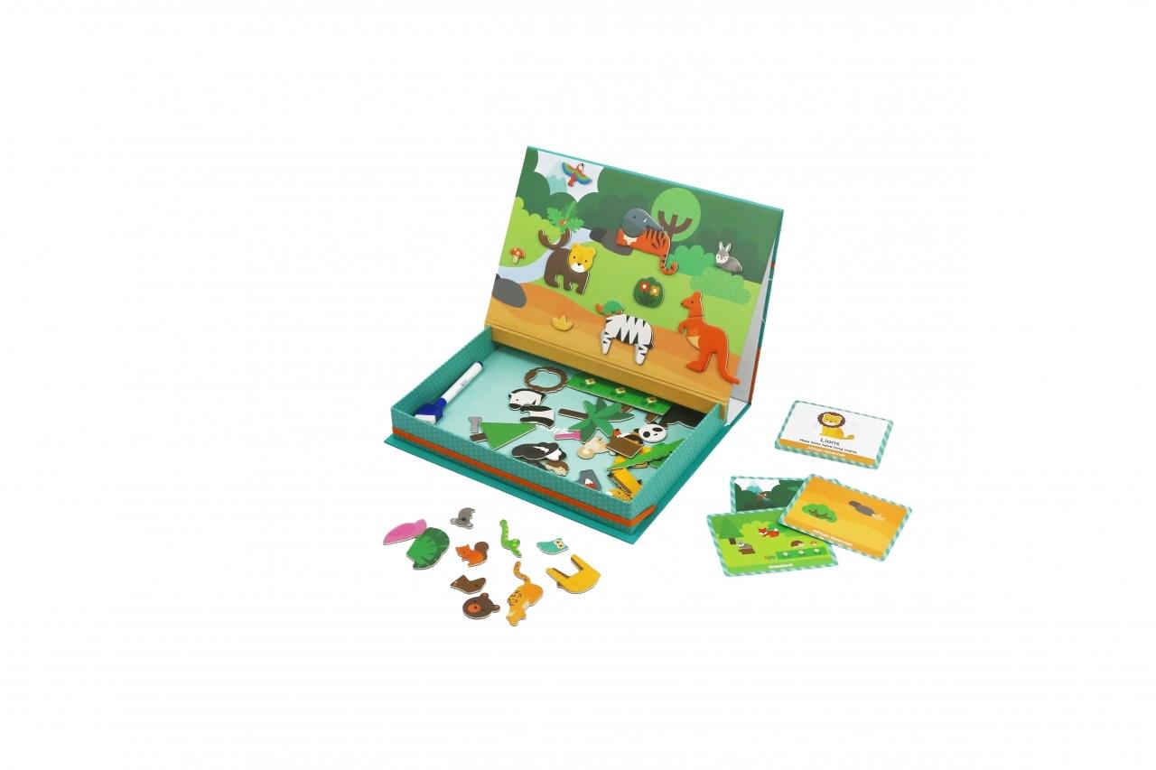 Игра Магнитная Мир животных 2в1 53 магнита