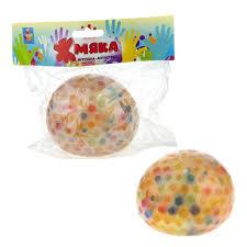 Жмяка Шар макси с разноцветными шариками 10см