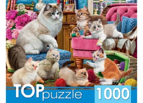 Пазл 1000 Toppuzzle Озорные котята