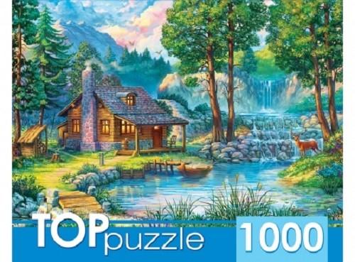 Пазл 1000 Toppuzzle Домик у лесного пруда