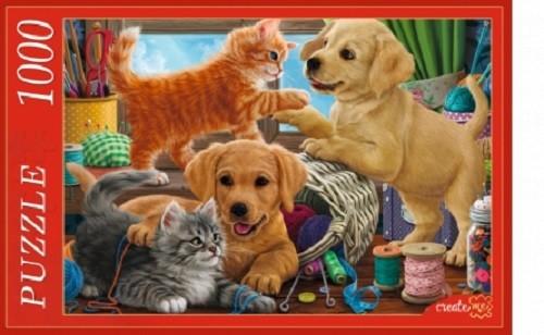 Пазл 1000 Котята и щенки