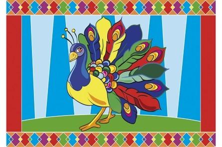 Творч Гравюра А5 Павлин (цветная)