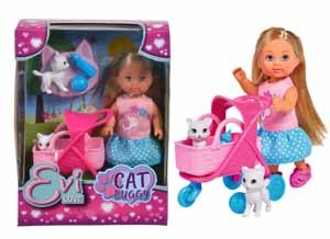 Кукла Еви 12см на прогулке с котятами