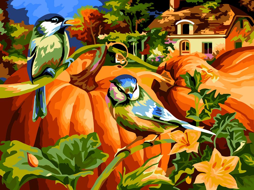 Творч Рисование по номерам 30Х40 Осенний урожай